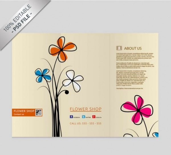 Abstract Floral Brochure Graphic Design