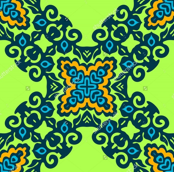 Abstract Flourish Pattern