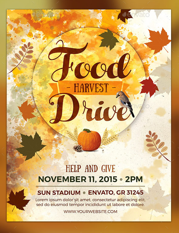 Abstract Food Drive Flyer Design