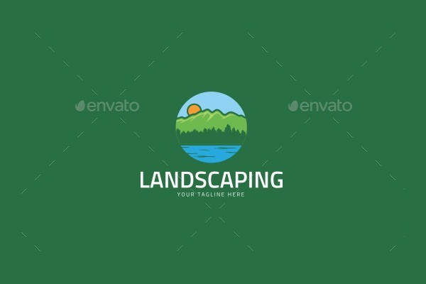 abstract logo for landscape