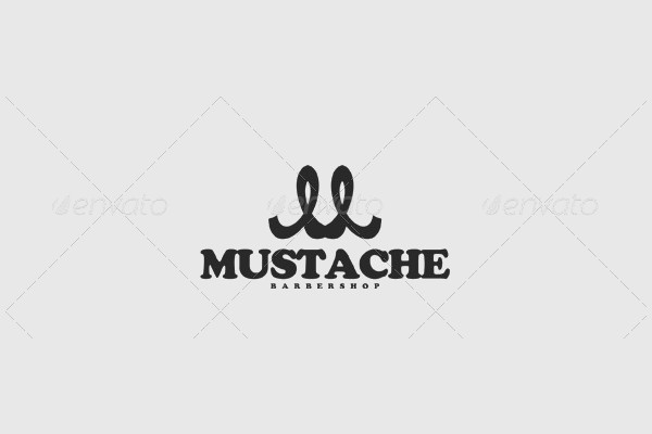 Abstract Mustache Logo