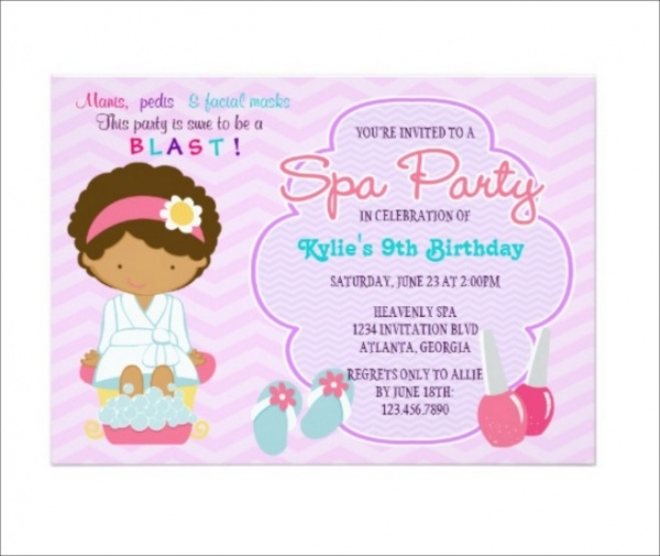 Adorable Pink Purple Spa Pampering Party