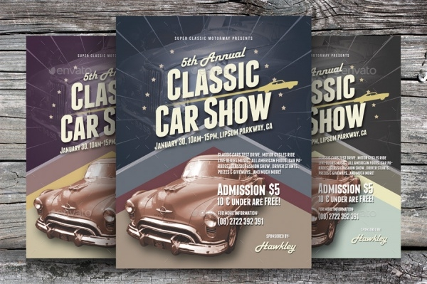 Alternative Classic Car Show Flyer Template