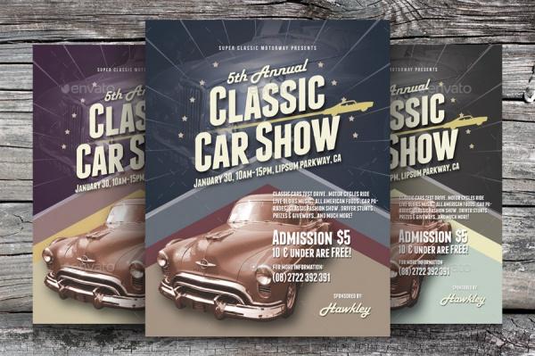 alternative classic car show flyer template