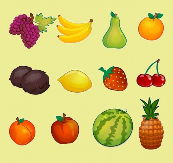 Amazing Fruit Illustrations Collection