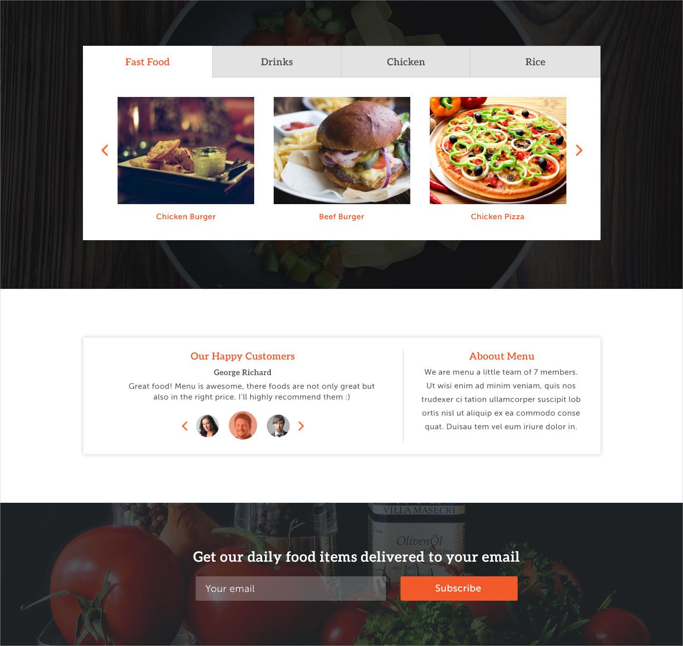 Amazing Restaurant PSD Design