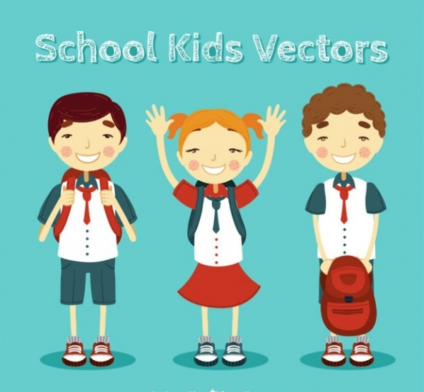 Amazing school kids illustration