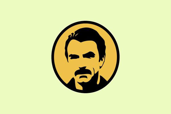 American Mustache Logo Design
