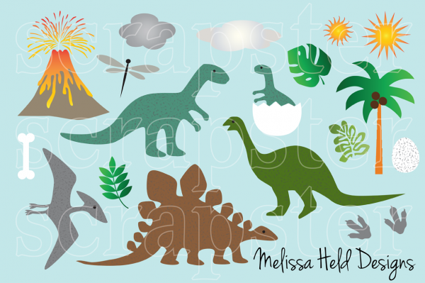 Animated Dinosaur Clip Art