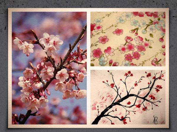 animated pink sakura pattern