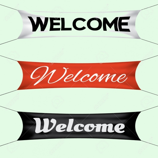 Animated Welcome Banner Design