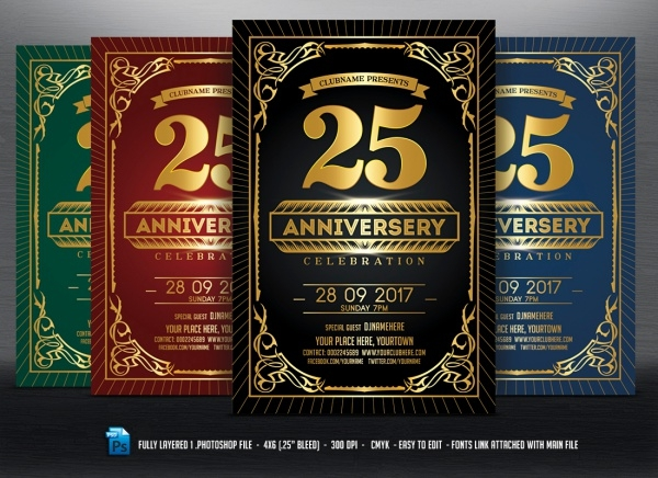 Anniversary Celebration Flyer Invitation