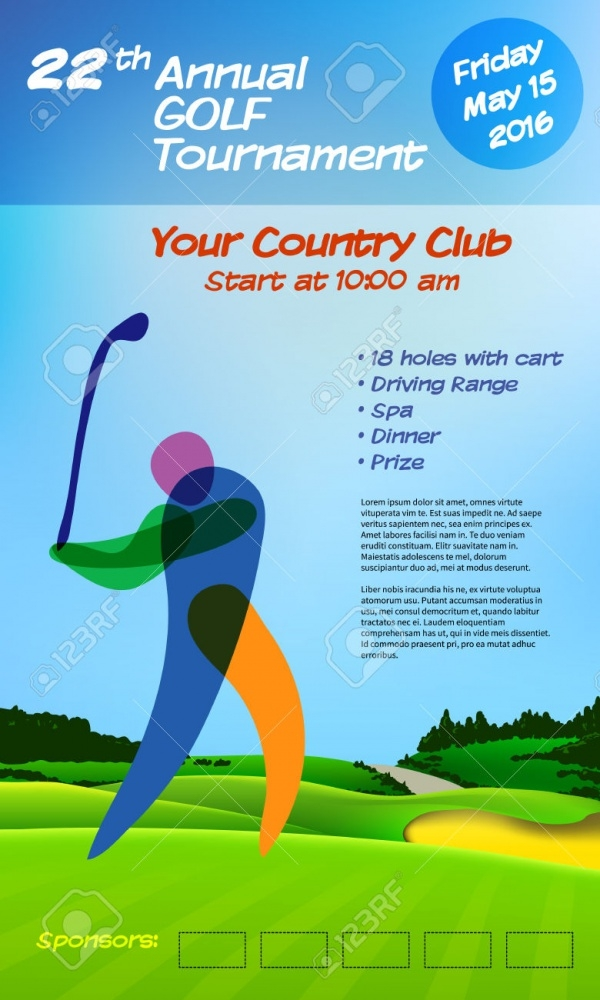 Annual Golf Ticket Brochure Template