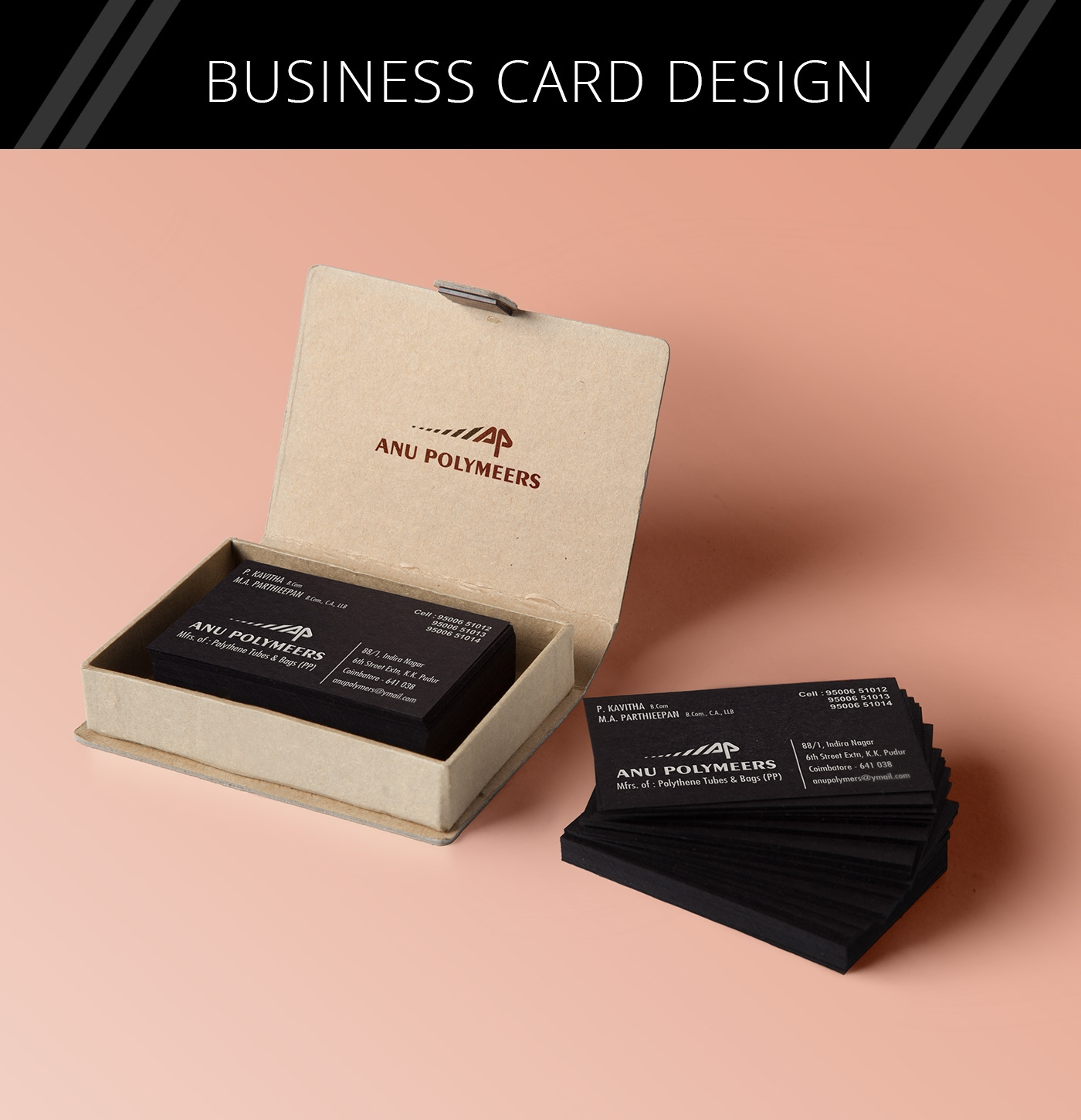 Anu Polymers Business Card Design