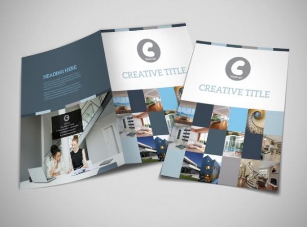 architecture design studio bi fold brochure