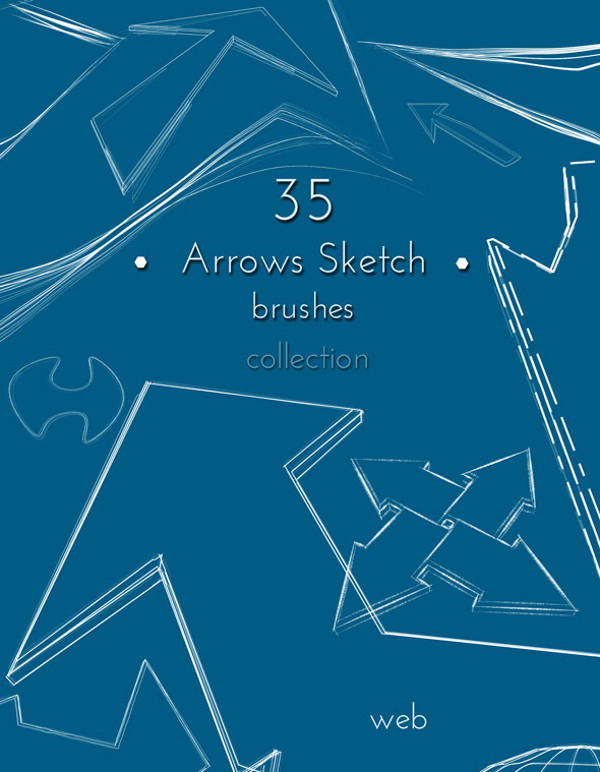Arrows Sketch Brushes