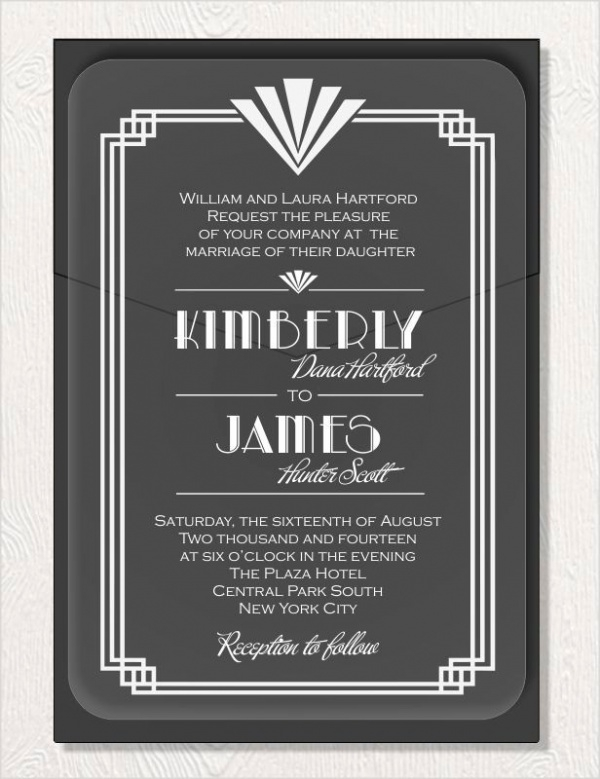 Art Deco Acrylic Mirror Invitation