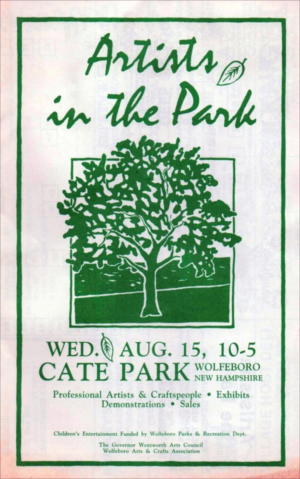 Artists in the Park flyer