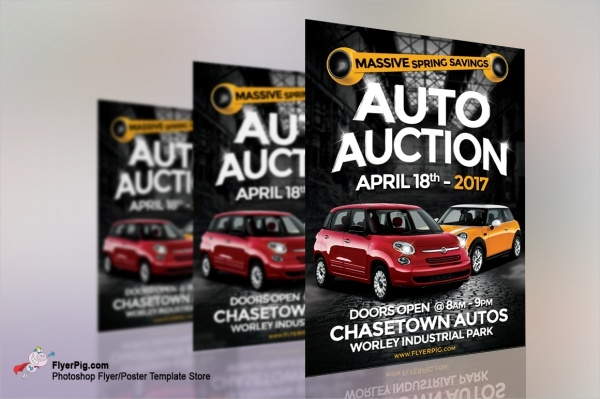 Auto Car Auction Show Flyer Template