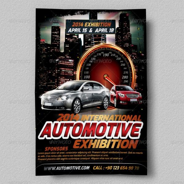 Automotive Exhibition Flyer Template