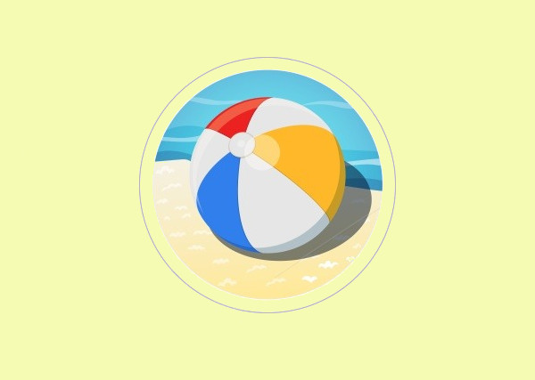 Awesome Beach Ball Vector