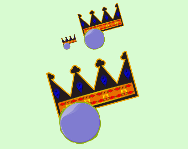 Awesome Crown clip art free vector