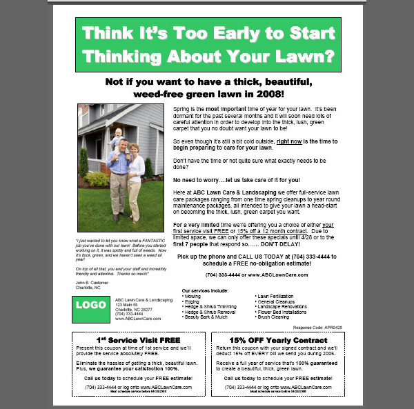 Lawn care flyers templates free for Garden maintenance flyer template