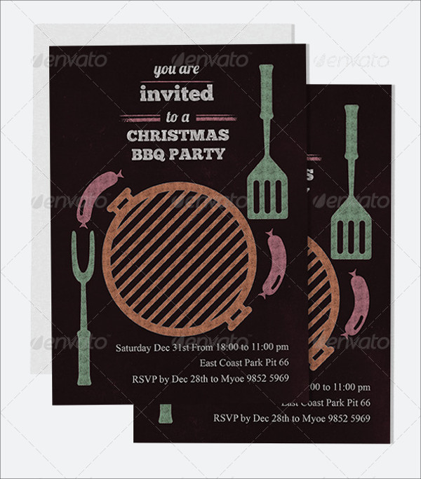 BBQ Christmas Party Invitation