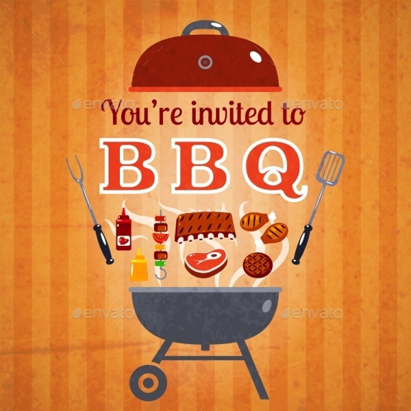 BBQ Cookout Invitation Design
