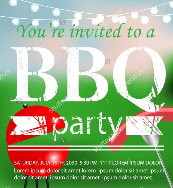 BBQ Grill Party Invitation