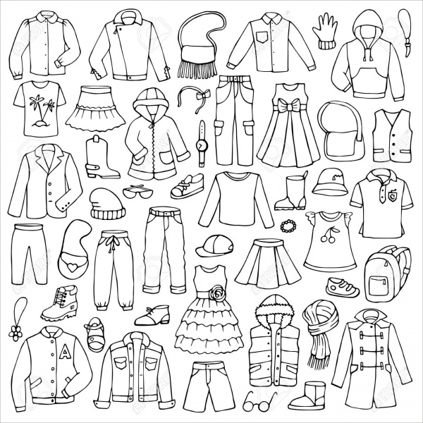 Baby Clothes Doodle Vectors