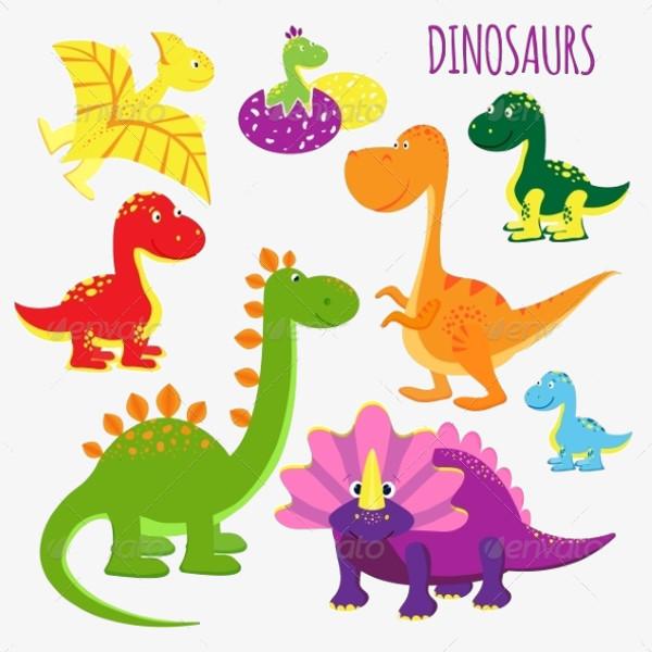 Baby dinosaur clip art
