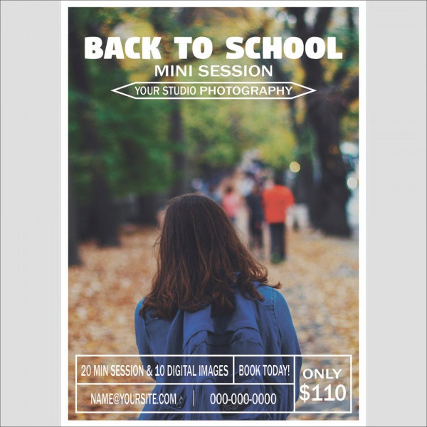 Back To School Flyer PSD 1