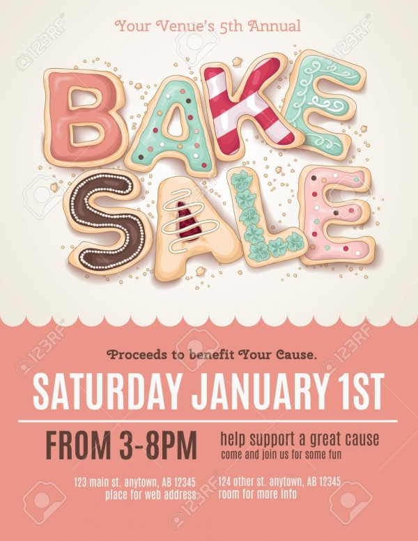 Bake Sale Flyer Design Template