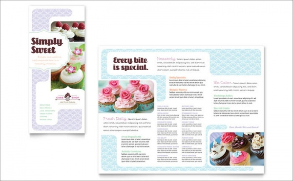 Bakery & Cupcake Shop Tri Fold Brochure