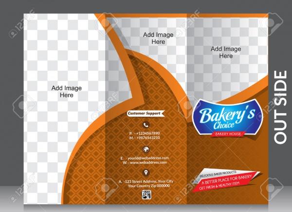 Bakery Shop Tri fold Brochure Illustration