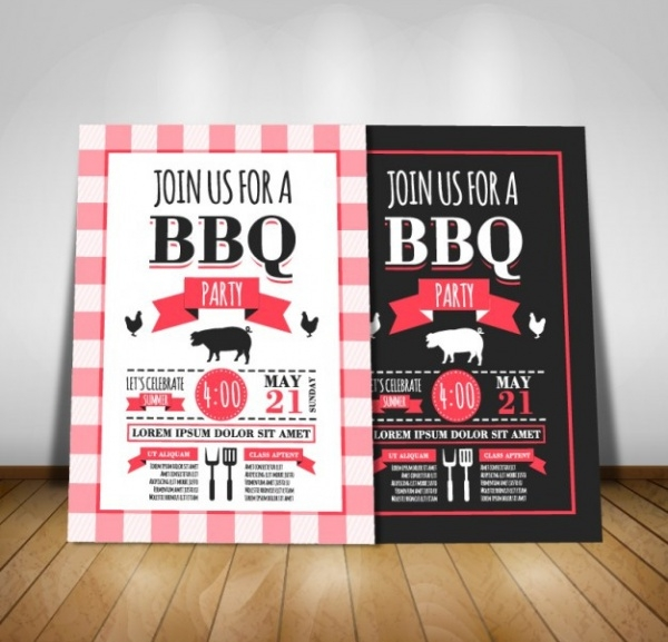 Barbecue Party Invitation Design