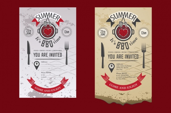 Barbecue Summer Party Invitation