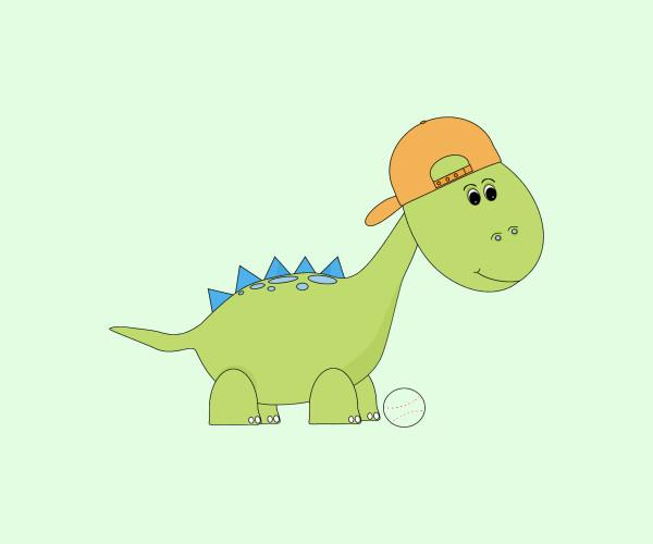 Baseball Dinosaur Clip Art