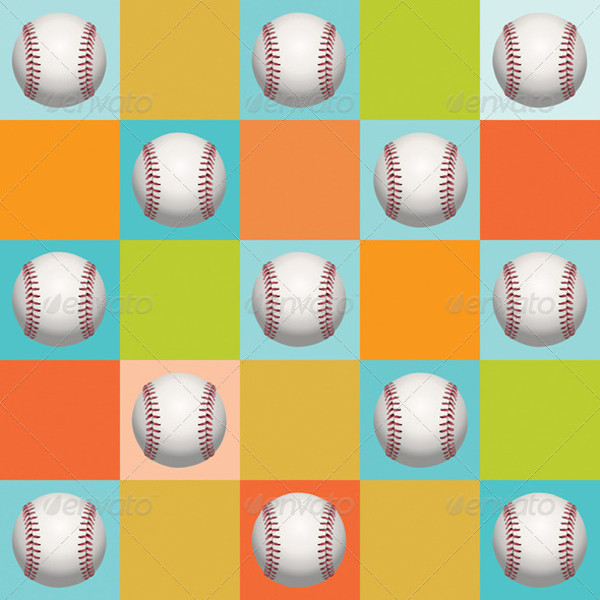 Baseball Vector Pattern