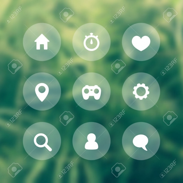 Basic Web Round Transparent Icons
