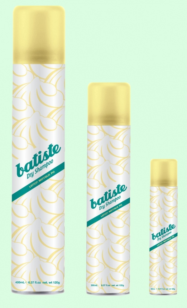 Batiste Dry Shampoo Label