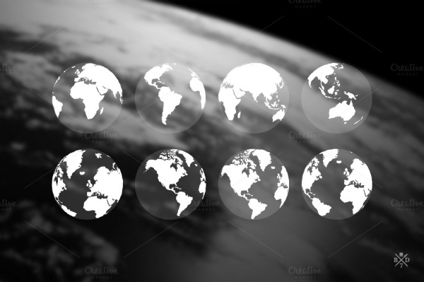 Earth Transparent Icons