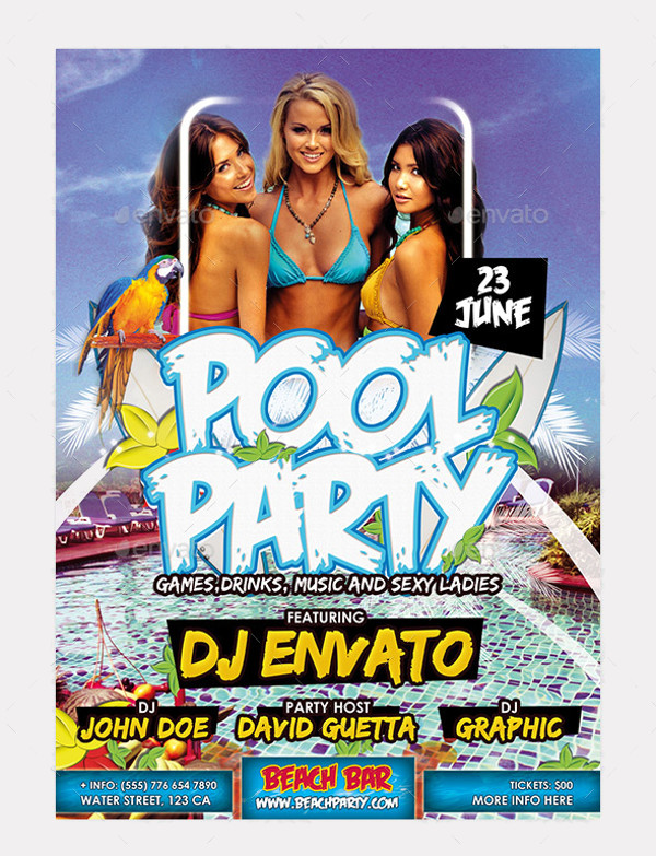 Beach & Pool Party Flyer