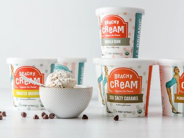 Beachy Cream Ice Cream Pint Packaging