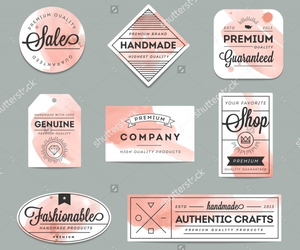 Beautiful Artistic Product Labels