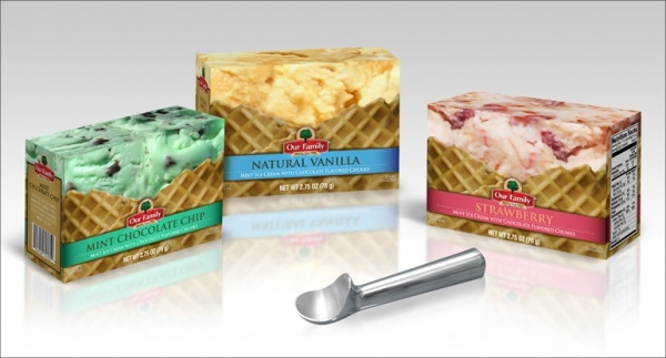Beautiful Vanilla Ice Cream Packaging