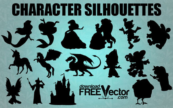 Beautiful Vector Fairytale Silhouettes