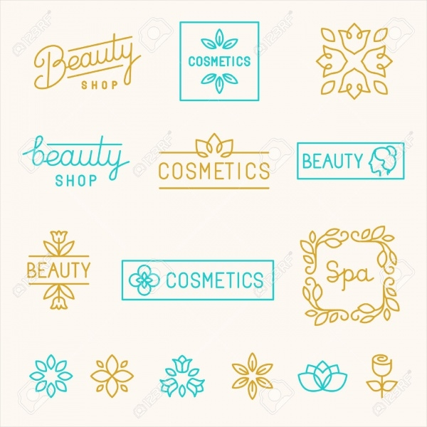 Beauty Shops Cosmetic Label Designs