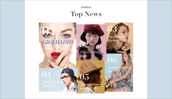 Beauty Website Magazine Design